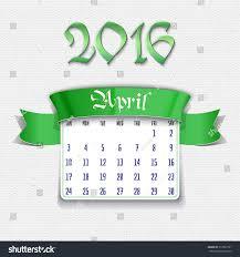 april 2016 calendar template design your stock vector 317892731
