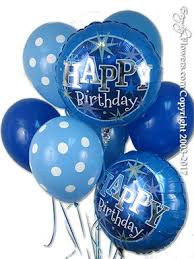 deliver balloons cheap blue birthday balloon bouquet for delivery by everyday flowers