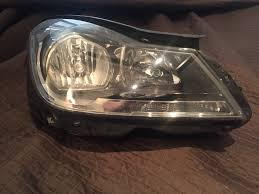 mercedes c class headlights 2011 2014 c class w204 halogen headlights pair factory oem