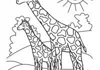 giraffe coloring pages free coloring pages