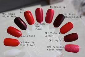 Shades Of Red Color Red Nail Polish U2013 Horrendous Color