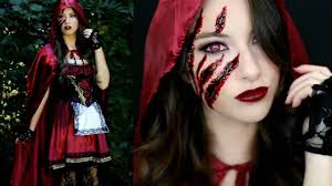 Cool Halloween Makeup Ideas For Men by Little Red Riding Hood Halloween Makeup Tutorial U0026 Costume Youtube