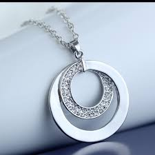 handmade pendant necklace images Silver plated necklace jewelry handmade pendant necklaces hammered jpg