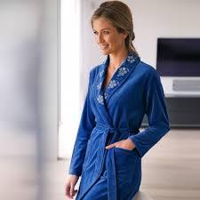 robes de chambre femmes peignoir robe de chambre nuit blancheporte