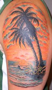 8 awesome palm tree shoulder tattoos