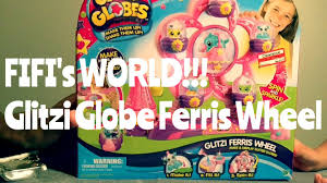 glitzi globes ferris wheel animal toy set glitter water and