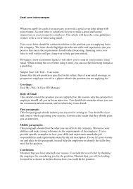 email cover letter resume cover letter for email best of letter for sending resume best