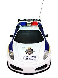 remote control police car with lights and siren amazon com justice team police rc police car 1 20 scale full