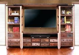 reclaimed wood wall cabinet wooden wall unit ed exme cherry wood entertainment center wooden