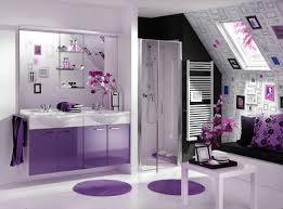 Bathroom Interior Design Decoration Ideas Contemporary Purple Theme In Bathroom Interior
