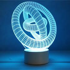 optical illusion 3d lamp 7 colour changing gyro amazon co uk