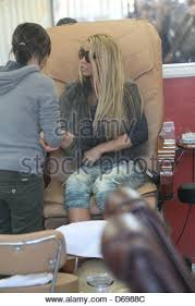 katie price is seen getting her nails done in west hollywood los
