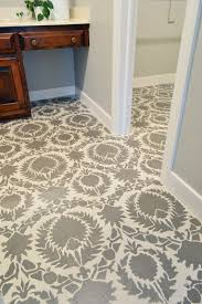 how to stencil a floor house