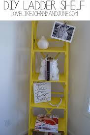 Diy Ladder Bookshelf Harper And Colette Diy Ladder Shelf