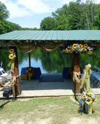 outside weddings dock decorated for outside wedding picture of explore brown