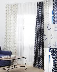 nautical curtains shower mediterranean fish pattern navy blue