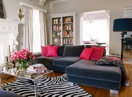 pretty living room with small modern glass coffee table design