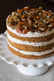 pumpkin spice cake with cinnamon brown sugar cream cheese frosting
