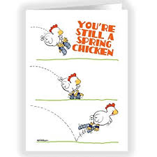 chicken birthday card single birthday