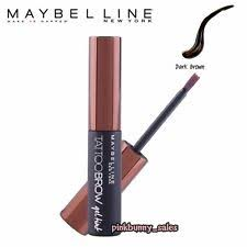 tattoo eyebrows by maybelline maybelline new york tattoo brow gel tint dark brown 5 ml brow