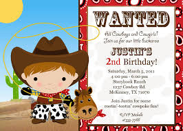 2nd Birthday Invitation Card Cowboy Birthday Invitations U2013 Gangcraft Net