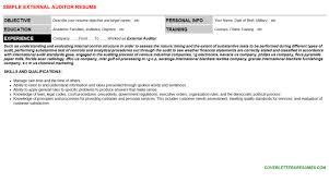 cover letter auditor external auditor cover letter u0026 resume