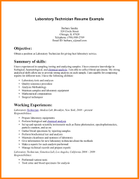 Service Technician Resume Sample by Lab Technician Resume Template Examples