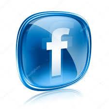 Facebook Icon facebook icon glass blue isolated on white background u2013 stock