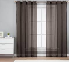 Crushed Voile Sheer Curtains by 1pc Brown Grommet Voile Sheer Panel Window Curtain Drape Ruby 63