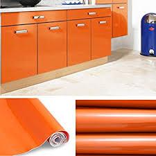 stickers meuble cuisine kinlo 5 0 61m stickers meubles auto adhésif orange pour armoire de