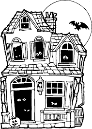 printable spooky house halloween printables learningenglish esl trick or treat