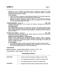 Building Maintenance Resume Examples by Resume Sample For Licensed Mechanical Engineer Professional