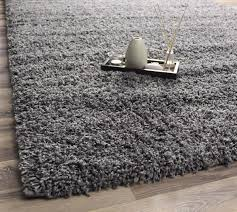 super area rugs cozy plush solid gray shag rug 2 u0027 x 3