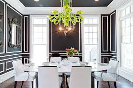Dining Room Color How To Use Black To Create A Stunning Refined Dining Room