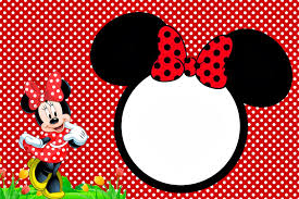 minnie red free printables party invitations