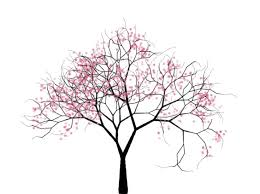 tree drawing search tree silhouettes vectors clipart