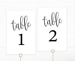 free table number templates basic black 1 40 table numbers template