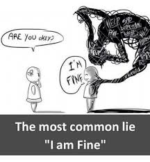 Most Common Memes - are you okey the most common lie i am fine meme on me me