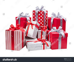 boxes with bows gift concept present boxes bows isolated stock photo 166625936