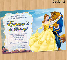 Beauty And The Beast Wedding Invitations Beauty And The Beast Birthday Invitations Marialonghi Com