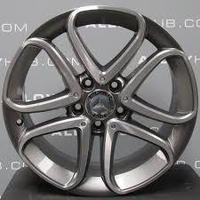 mercedes 17 inch rims mercedes a class w176 5 spoke 17 grey polished alloy