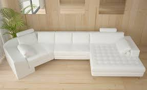 White Sectional Sofa by Elegant White Leather Sectional Chaise Modern Leather Sectional