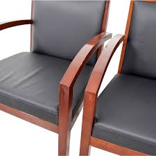 Black And Wood Chairs 50 Off Black Leather And Wood Chairs Chairs