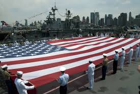 A American Flag Pictures File Us Navy 110530 N 1251w 103 Service Members Unfurl An American