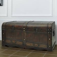 Coffee Table Chest Large Wooden Coffee Table Treasury Pirate Chest Medieval Storage