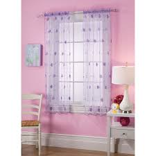 3 Panel Window Curtains Shop Style Selections Cailyn 63 In Purple Polyester Rod Pocket