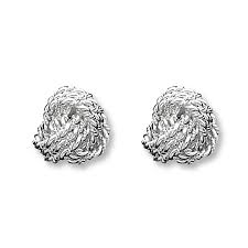 knot earrings knot earrings sterling silver
