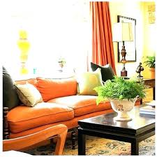 Orange Sofa Living Room Ideas Burnt Orange Sofa And Loveseat Table I Like The Brown Compliments