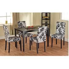 Parson Chairs Leaf Print Parson Chair Set Of 2 Walmart Com