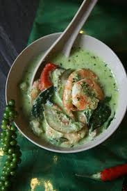 citronnelle cuisine curry thaï vert aux crevettes et lait de coco culinaire